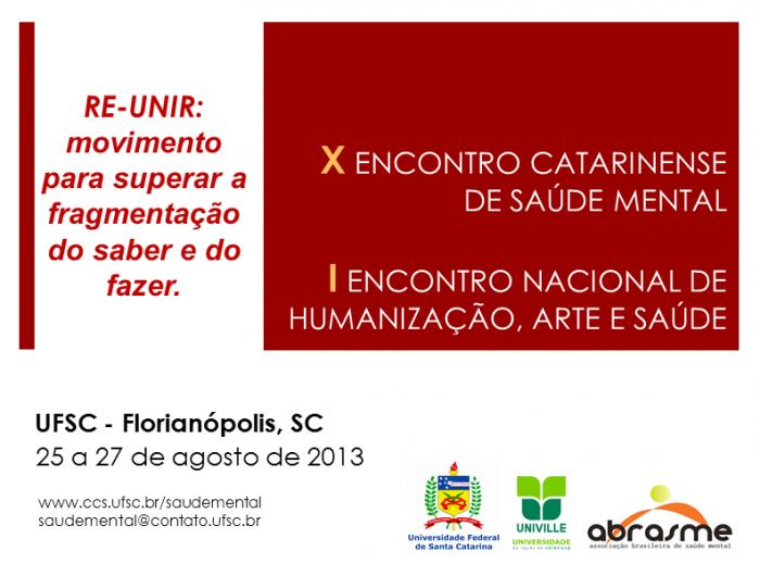 Congresso Saúde Mental em Florianópolis! | Rede Humaniza SUS