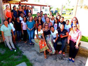 Os alunos indígenas do Curso de Bacharelado Gestão em Saúde Coletiva Indígena/Insikiran/UFRR