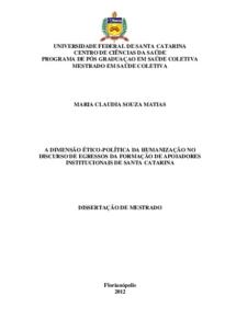 A dimensão ético-política da Humanização no discurso de egressos da Formação de Apoiadores Institucionais de Santa Catarina