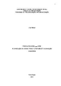 """PRODUZIR(-NOS) ponto COM - A constituição do coletivo """"Rede HumanizaSUS"""" e a produção cooperativa"""